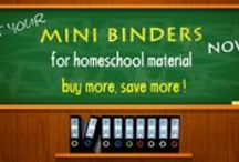 Homeschool / Our binders and sheet protectors will help you organize materials and make it easier for you and your kids to work!  Specifically, our MIni Binders is a best seller amongst homeschool educators. They are small and easy to handle, durable, colorful and archival safe.  Lots of homeschoolers like to get the binders and sheet protectors for organizing Classical Conversation materials.      http://www.keepfiling.com/5-1-2-x-8-1-2-Memo-Size-s/27.htm