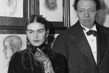 Frida Kahlo y Diego Rivera / Pintores