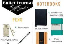 Bullet Journal accesories / Kiegészítők a BuJo-hoz: tollak, noteszek, szalagok, post-it-ek stb...