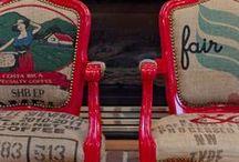 Chaises - Chairs / Chaise relookée à partir de chaise scandinave, dépareillée, peinte, en bois, de récup ou de bistrot   Chair ideas makeover and DIY tips to repurpose, recycle, reuse or paint.