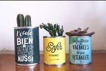 DIY / Projets DIY faciles pour la décoration à partir de conserve ,bois ou autres   Easy DIY projects for home decor from tin cans, or wood