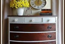Commodes - Dressers / Idées de commodes ancienne, scandinave ou en bois, relookée, peinte, customisée  | Ideas and DIY tips for dresser makeover, repurposed, painted, styling  or refurbished