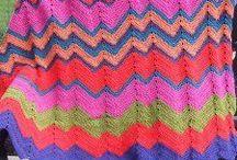 snoesig (chevron) / cozy crochet throws in chevron/zig zag