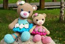 speel-speel (beertjie) / teddy bears, panda bear, polar bear, koala bear, raccoons