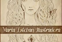 Maria Esteban ILLUSTRATIONS / My Works... completely originaly / by Maria E. DRAW