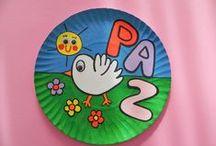 manualidades día de la paz Encarni Trabado / Manualidades sobre el día de la paz