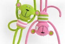 speel-speel (aapstreke) / crochet monkeys, chimp, gorilla, lemur, bushbaby