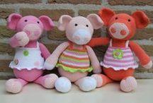 speel-speel (varke) / crochet pigs