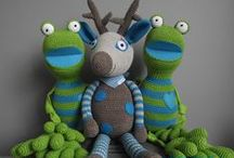 speel-speel (paddas) / crochet frogs