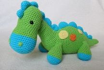 speel-speel (drake..) / crochet dragons, dinosaurs and unicorns