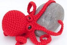 speel-speel (daar by die strand) / crochet sea creatures