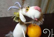speel-speel (bokke) / crochet goats