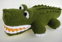 speel-speel (reptiele, akkedisse) / crochet reptiles, chameleons