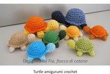 speel-speel (skilpaaie) / crochet turtles