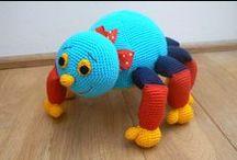 speel-speel (spinnekoppe) / crochet spiders