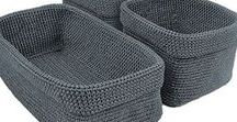 vlytige vingers - mandjies / crochet baskets
