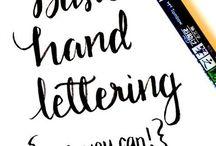 Lettering / Tips, Tricks & Vorlagen rund um Lettering & Kalligrafie