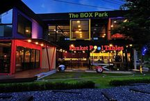 The Box Park / The Box Park is a Creative Retail Space in Phuket, designed with function and form in mind, incorporating shipping containers into an ultra modern colorful & unique architecture
