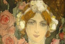 Elizabeth Sonrel (1874-1953) / Elizabeth Sonrel was a French painter and illustrator in the Art Nouveau Style. Her works included allegorical subjects, misticism and synbolism in portraits and landscapes.