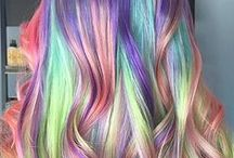 Half Hair, Macaron Hair & Rainbow Hair / Our favourite multi-coloured hair trends of 2015.