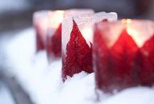 Winter. Red