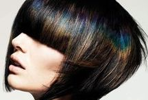 Oil Slick/Petrol Hair / The new trend for brunette hair. Find out more here... http://www.greatlengthshair.co.uk/blog/oil-slick-hair-colour-trend/