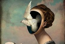 Christian Schloe ( / Christian Schloe is a talented Austrian artist whole work includes digital Art, painting illustration and photography. In his work, the digital artist created expressive visual stories filled with soft color palettes, elegant birds and butterflies, soft flower petals and otherworldly amnestic landscapes. He playfully blends realistic elements with perplexing conceptual ideas.