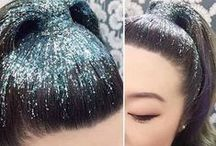 Glitter Roots / Glitter roots has to be one of our favourite temporary hair trends of 2015. Its time to sparkle!