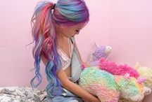 Candy Unicorn Hair / A cross between glitter roots and macaroon hair!