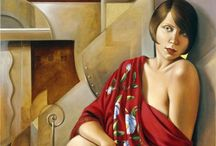 Catherine Abel (1966-) / Born in Australia, she creates striking figurative oil paintings. Combining classic styles with complex themes of modern feminine sexuality, her works are powerfully seductive compositions of strength and beauty. Influenced at an early age by Picasso, Braque and Dali and more recently by Andre Lhote and Lempicka, her work has evolved into a truly original style.