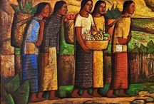 Alfredo Ramos Martinez (1872-1946) / Born in Monterrey, in the state of Nuevo Leon, in Mexico. He has studied at the prestigious Academy Nacional de Bellas Artes in Mexico City. In 1897 he continued his studies in Paris, embrancing the style Post-Impressionist. He returned to Mexico in 1910 and three years later he was appointed the Director of the National Academy. For health reasons in the family, in 1930 he left Mexico from USA. In Los Angeles circunstances catapult abruptly his art in a new direction: the Modernism.