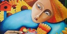 Cristiane Campos (1961-) / Born in Brazil she is a self-taught artist who uses painting to express their emotions and moods. His work is very diverse, both in themes such as the styles used.