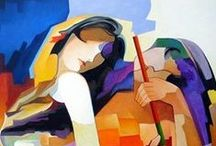 Damião Martins / Self-taught Brazilian painter, that encouraged by his grandmother made a drawing technical course seeking an education in the arts. He created his first cubist painting in 1978. His style is personalistic, and Its themes and colors have the vibrancy of the Impressionists, with well-kept drawing a multifaceted cubism softened by nuances in degradé.