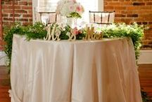 Sweetheart Tables / Sweetheart and/or head table floral designs & decor