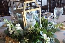Reception centerpieces / Centerpieces for wedding receptions and private events that we've create in St. Augustine & Jacksonville