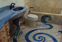 Bathrooms I could live in / Showers with benches, tubs