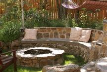Yard and garden ideas / Garden, flowers, patio, outdoor fire