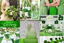 Green colour themes.. / All things green and wedding related..