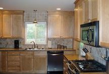 Columbus Kitchen Remodel / Adding maple cabinets, crown molding, stainless steel appliances, a tile backsplash, tile flooring and laminate countertops create a nice transitional look to this Columbus Ohio kitchen.