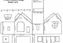 Vorlagen 3-D-Häuser