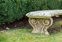 historical gardens - bench