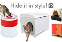 Decorative Litterbox Solutions / Creative ways to hide litterboxes in the home that will both work for your cat, and you!