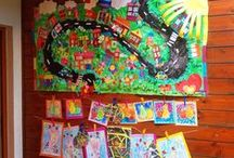 Collective art works with kids