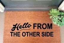 Door Mats / Fun welcome mats for the front entrance of your home.
