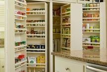 Kitchen Storage / Storage ideas for all those kitchen gadgets, appliances, food and spices.