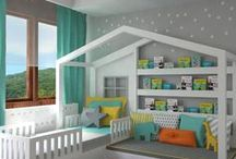Kids Rooms / Ideas for decorating kids rooms, playrooms and nurseries. Unique ways to store toys.