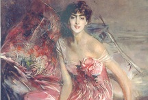 ART ☰  Boldini / Born in Ferrara, Italy in 1845.  Like Sargent, he had an international career, working mainly in Paris, but also in England where he was  well known in London.  By the turn of the century Boldini had become the most sought after portrait painter in Paris, achieving such a success that his reputation equaled that of  Sargent's in London. He was renowned as a colorist and technician, and his works are considered very much Parisian.   Sargent first met Boldini in the summer of 1880.