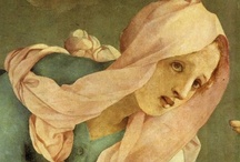 ART ☰  Pontormo / Jacopo Carucci (1494 –1557), usually known as Jacopo da Pontormo, Jacopo Pontormo or simply Pontormo, was an Italian Mannerist painter and portraitist from the Florentine School. His work represents a profound stylistic shift from the calm perspectival regularity that characterized the art of the Florentine Renaissance. He is famous for his use of twining poses, coupled with ambiguous perspective; his figures often seem to float in an uncertain environment, unhampered by the forces of gravity.