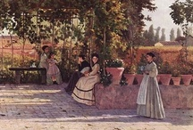 """ART ☰ I Macchiaioli / The movement grew from a small group of artists, many of whom had been revolutionaries in the uprisings of 1848. In the late 1850s, the artists met regularly at the Caffè Michelangiolo in Florence to discuss art and politics. They believed that areas of light and shadow, or """"macchie"""" (literally patches or spots) were the chief components of a work of art. The word macchia was commonly used by Italian artists and critics in the nineteenth century to describe the sparkling quality of a drawing."""