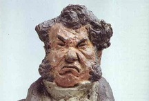 ART ☰  Daumier / Honoré Daumier (February 26, 1808 – February 10, 1879) was a French printmaker, caricaturist, painter, and sculptor, whose many works offer commentary on social and political life in France in the 19th century. He was perhaps best known for his caricatures of political figures and satires on the behavior of his countrymen, although posthumously the value of his painting has also been recognized.